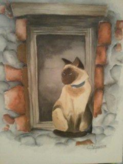 Neko à sa fenêtre