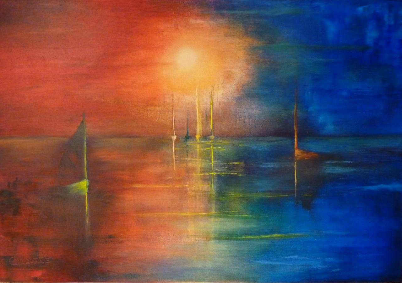 Peinture l 39 huile - Peinture abstraite huile ...