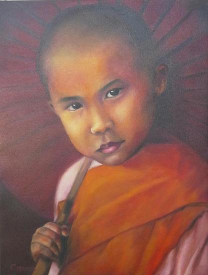Jeune Moine du Tibet
