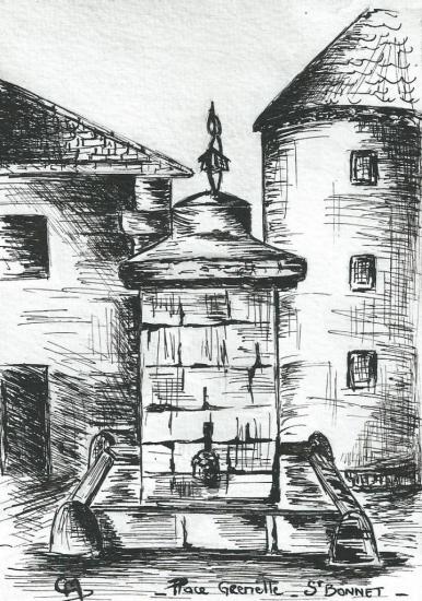 Place Grenette - St Bonnet en Champsaur