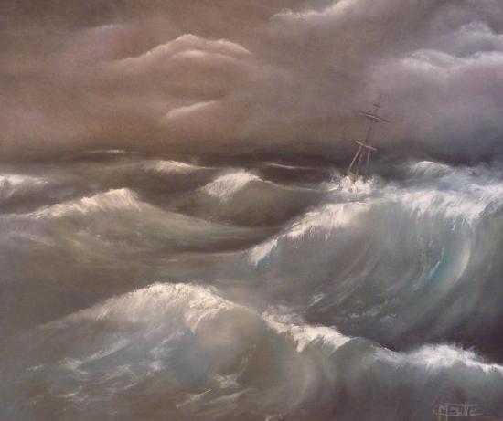 Tourmente en haute mer