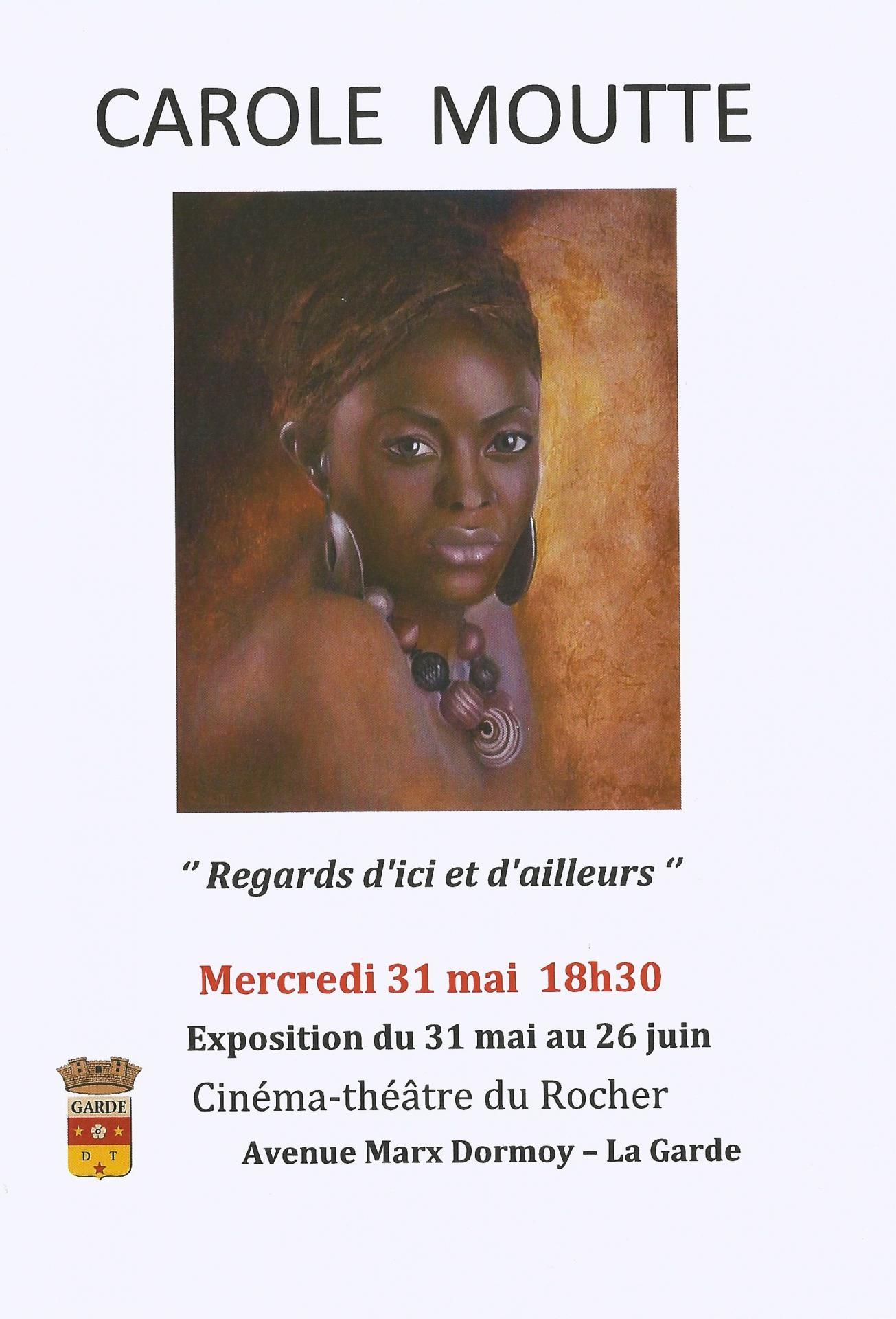 Affiche de ma 1ere expo en solo
